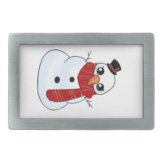 Kawaii Snowman Belt Buckles