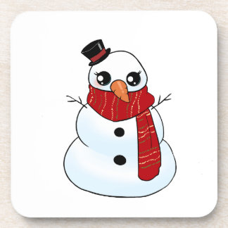 Kawaii Snowman Coaster