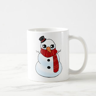 Kawaii Snowman Coffee Mug