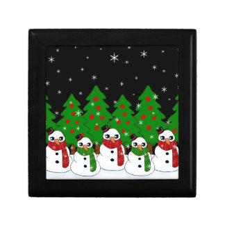 Kawaii Snowman Gift Box