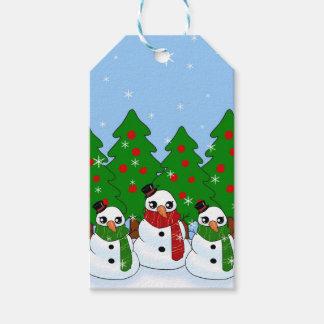Kawaii Snowman Gift Tags