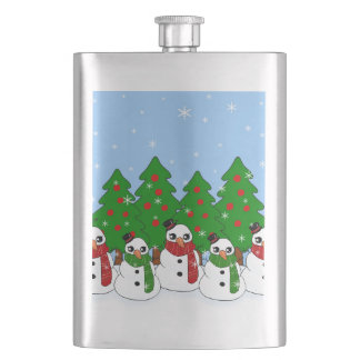 Kawaii Snowman Hip Flask
