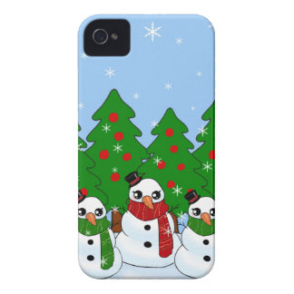 Kawaii Snowman iPhone 4 Case-Mate Cases