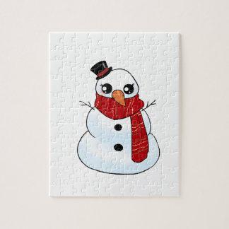 Kawaii Snowman Jigsaw Puzzle