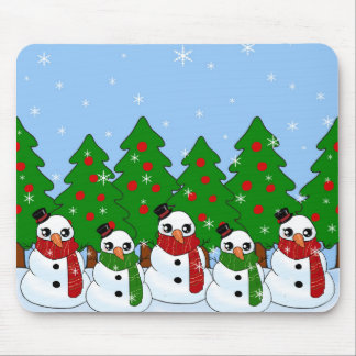 Kawaii Snowman Mouse Pad