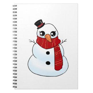 Kawaii Snowman Notebook