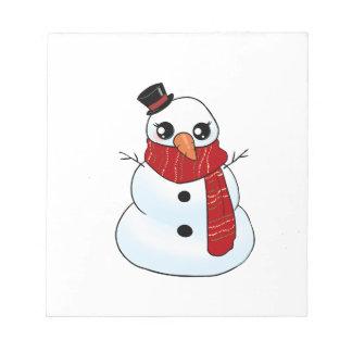 Kawaii Snowman Notepad