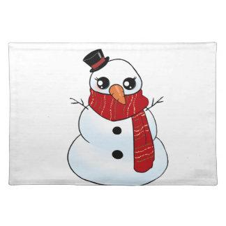 Kawaii Snowman Placemat