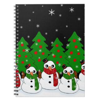 Kawaii Snowman Spiral Notebook