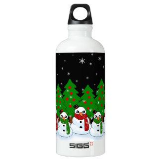 Kawaii Snowman Water Bottle