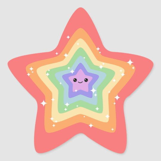 Kawaii Sparkle Star Star Sticker