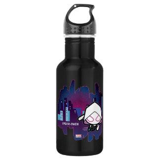 Kawaii Spider-Gwen City Skyline 532 Ml Water Bottle