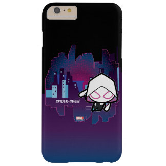 Kawaii Spider-Gwen City Skyline Barely There iPhone 6 Plus Case