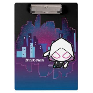 Kawaii Spider-Gwen City Skyline Clipboard