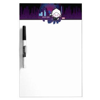 Kawaii Spider-Gwen City Skyline Dry Erase Board