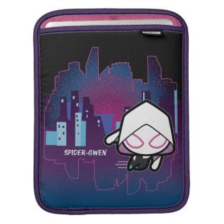 Kawaii Spider-Gwen City Skyline iPad Sleeve