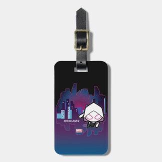 Kawaii Spider-Gwen City Skyline Luggage Tag