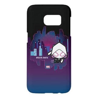 Kawaii Spider-Gwen City Skyline Samsung Galaxy S7 Case