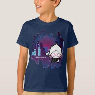 Kawaii Spider-Gwen City Skyline T-Shirt