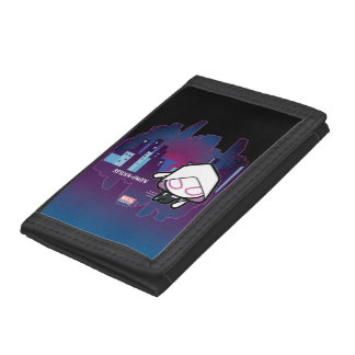 Kawaii Spider-Gwen City Skyline Trifold Wallet