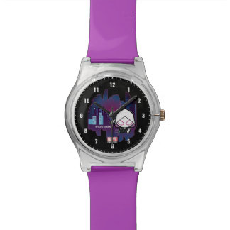 Kawaii Spider-Gwen City Skyline Watch