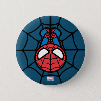 Kawaii Spider-Man Hanging Upside Down 2 Inch Round Button
