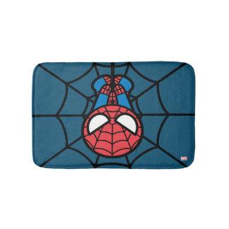 Kawaii Spider-Man Hanging Upside Down Bath Mat
