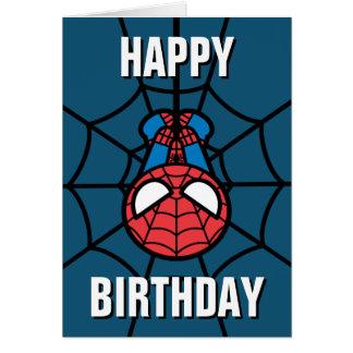 Kawaii Spider-Man Hanging Upside Down Card