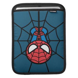 Kawaii Spider-Man Hanging Upside Down iPad Sleeve