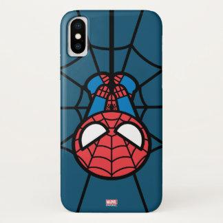 Kawaii Spider-Man Hanging Upside Down iPhone X Case