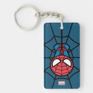 Kawaii Spider-Man Hanging Upside Down Keychain