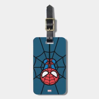 Kawaii Spider-Man Hanging Upside Down Luggage Tag