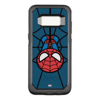 Kawaii Spider-Man Hanging Upside Down OtterBox Commuter Samsung Galaxy S8 Case