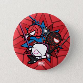 Kawaii Spider-Man, Spider-Gwen, & Miles Morales 2 Inch Round Button