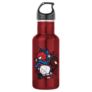 Kawaii Spider-Man, Spider-Gwen, & Miles Morales 532 Ml Water Bottle