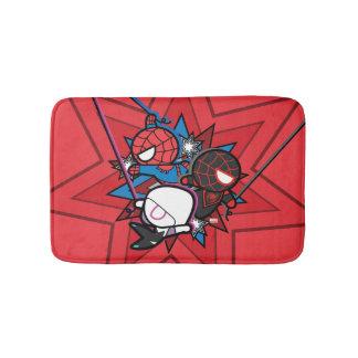 Kawaii Spider-Man, Spider-Gwen, & Miles Morales Bath Mat