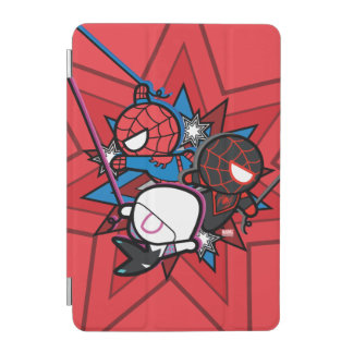 Kawaii Spider-Man, Spider-Gwen, & Miles Morales iPad Mini Cover
