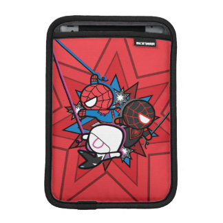 Kawaii Spider-Man, Spider-Gwen, & Miles Morales iPad Mini Sleeve