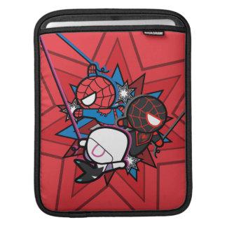 Kawaii Spider-Man, Spider-Gwen, & Miles Morales iPad Sleeve