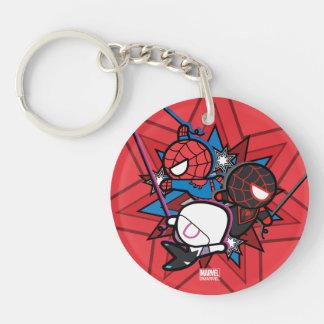 Kawaii Spider-Man, Spider-Gwen, & Miles Morales Keychain