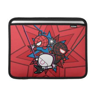 Kawaii Spider-Man, Spider-Gwen, & Miles Morales MacBook Sleeve