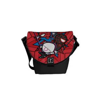 Kawaii Spider-Man, Spider-Gwen, & Miles Morales Messenger Bags