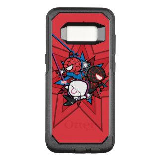 Kawaii Spider-Man, Spider-Gwen, & Miles Morales OtterBox Commuter Samsung Galaxy S8 Case