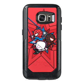 Kawaii Spider-Man, Spider-Gwen, & Miles Morales OtterBox Samsung Galaxy S7 Case