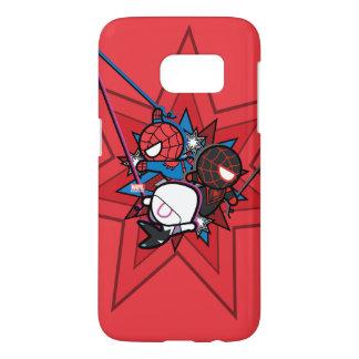 Kawaii Spider-Man, Spider-Gwen, & Miles Morales Samsung Galaxy S7 Case