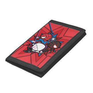 Kawaii Spider-Man, Spider-Gwen, & Miles Morales Tri-fold Wallets