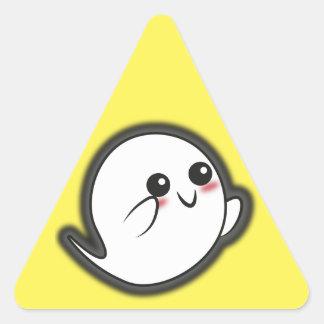 Kawaii spooky ghost triangle sticker