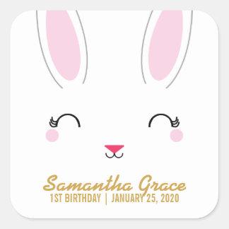 kawaii SPRING BUNNY birthday party favor sticker