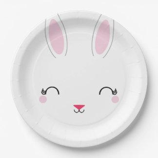 kawaii SPRING BUNNY birthday party plate