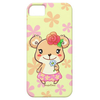Kawaii Spring Time Flower Bear iPhone 5/5S Case
